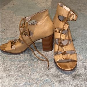 Open toed booties size 7.5